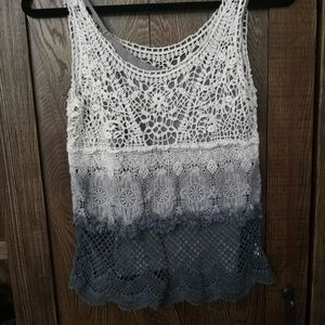 American Eagle Crocheted Ombre Tank